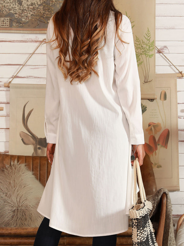 Off White Casual Cotton Dresses