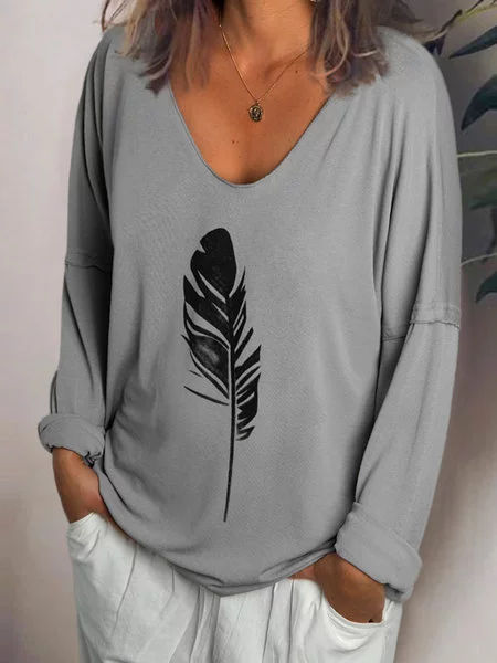 Women Long Sleeve Casual Cotton-Blend Shirts & Tops
