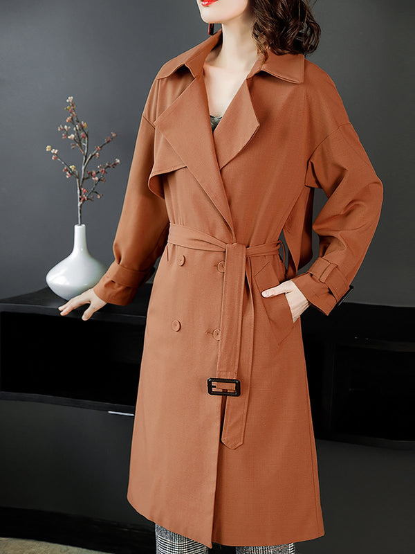 Shift Casual Long Sleeve Trench Coat