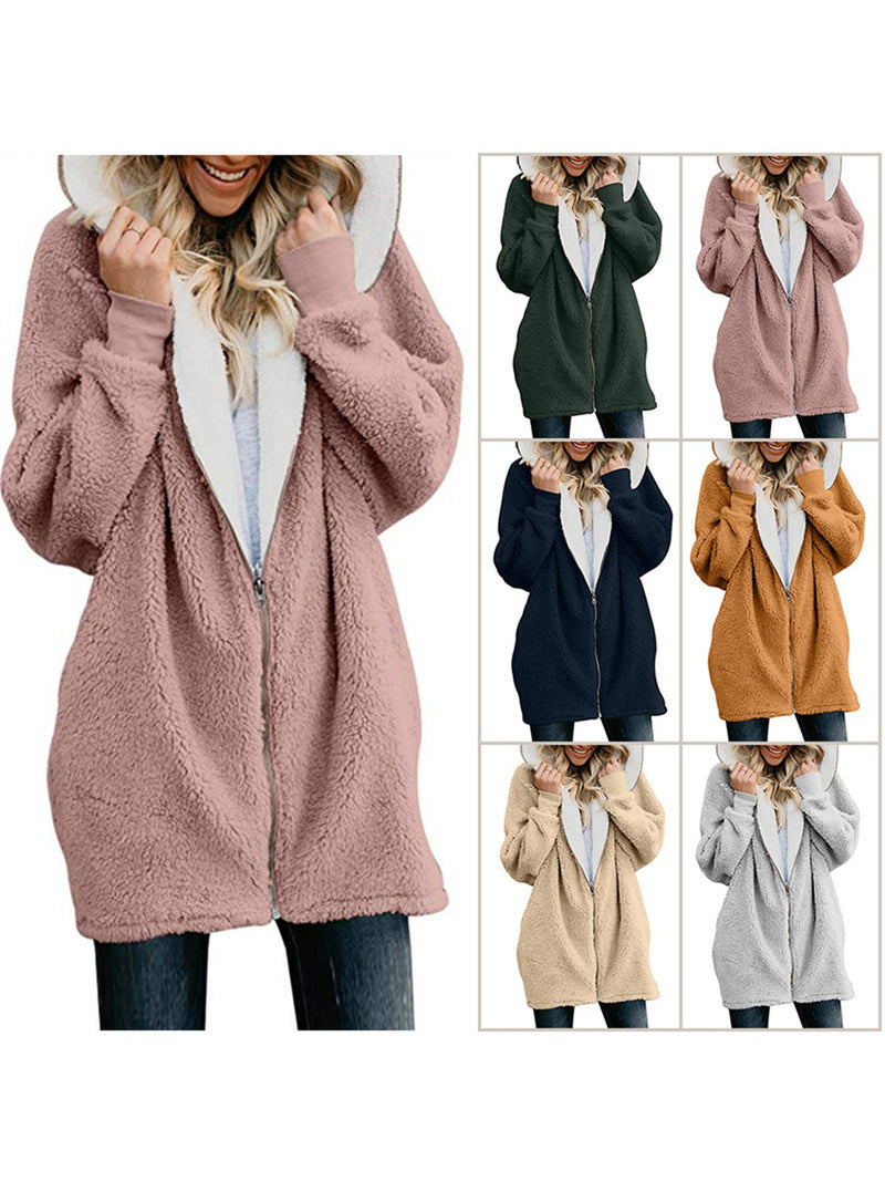Solid Sweet Long Sleeve Outerwear