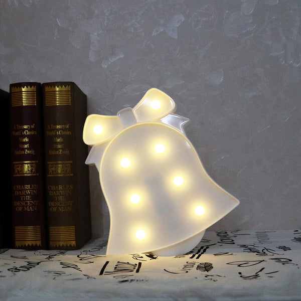 LED Night Light Kids Penguin Bell Snowflake Elk Bedroom Bedside Lamp Room Party Decoration