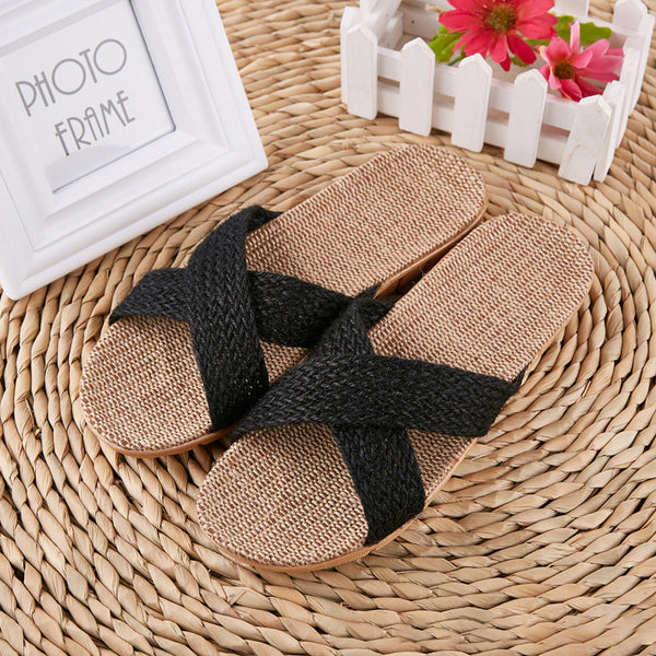 Flat Heel Casual Linen Shoes