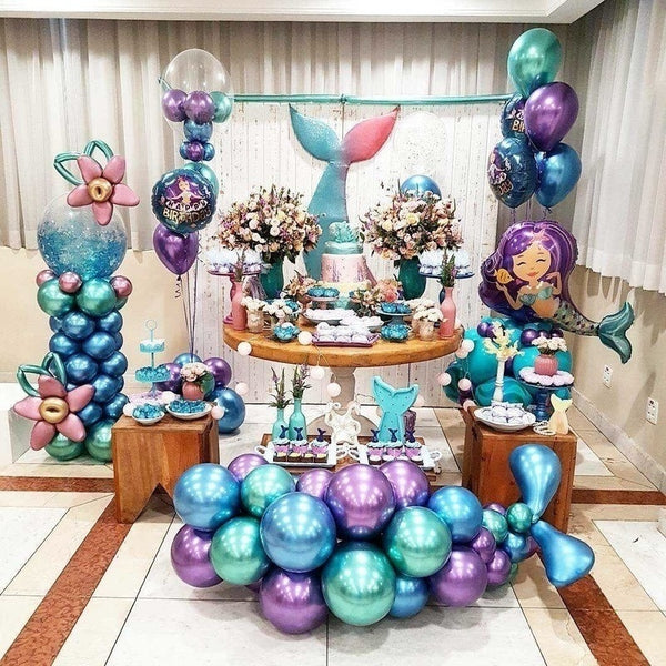 50pcs 12 Inch  Metal Color Latex Thickening Pearl Balloon Celebration Wedding Birthday Party Decoration Balloons Festival Decoration Air Balloon