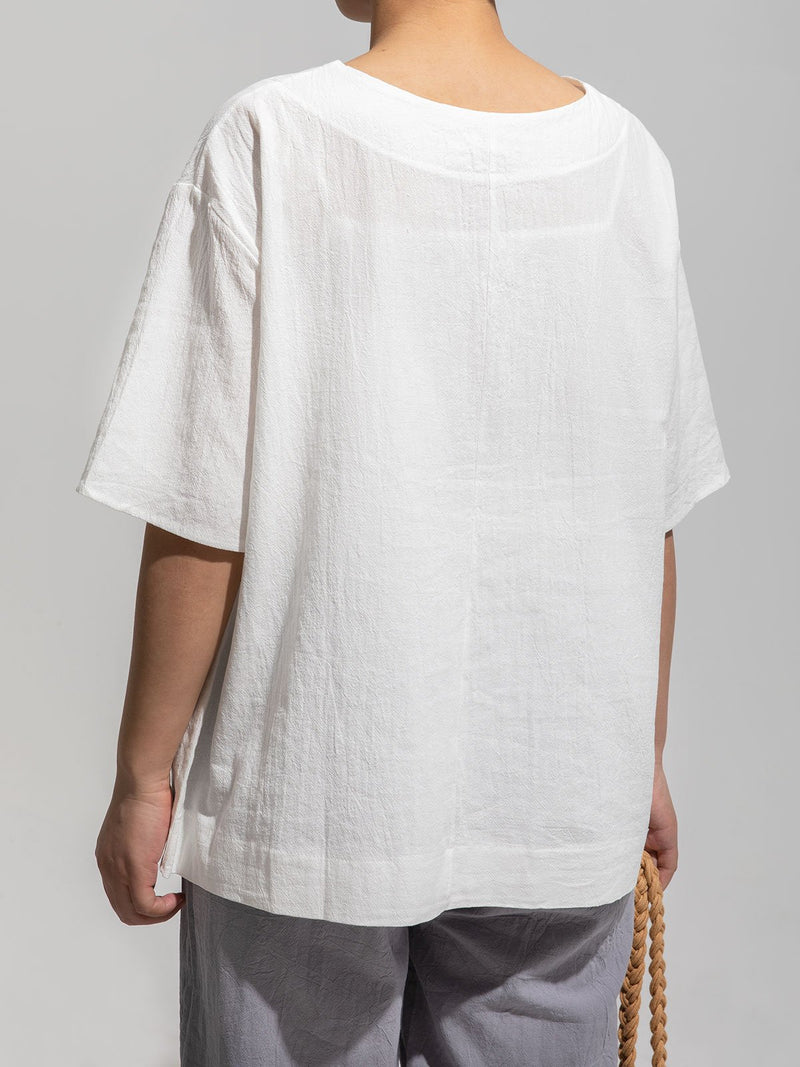 Women Cotton-Blend Half Sleeve Tops
