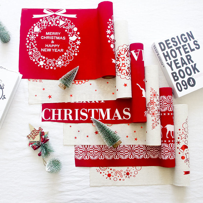 Christmas Table Runners Holiday Table Linens Party Decoration Tablecloth