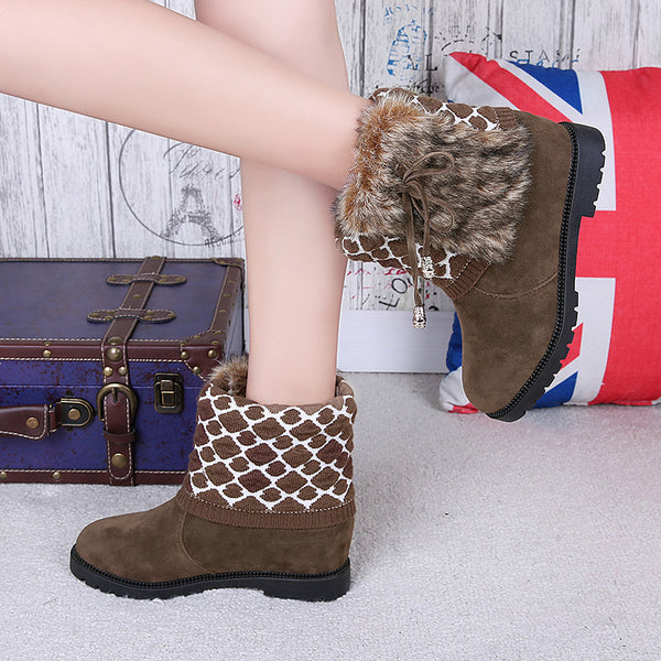 Women's Slip-on Boots Casual Winter Warm Boots