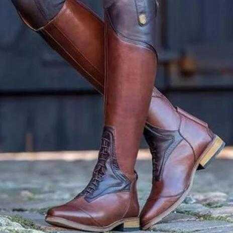 Women Brown Pu Daily Fall Boots