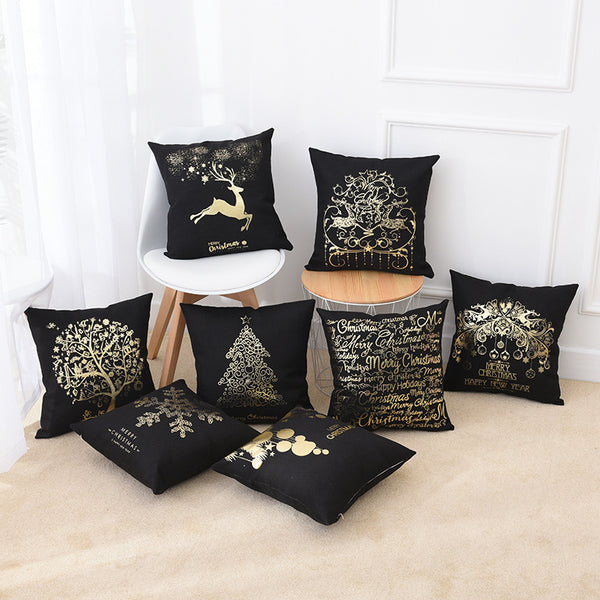 Hot-sale Christmas Pillow Case Cushion Cover for Home Office Car Decor