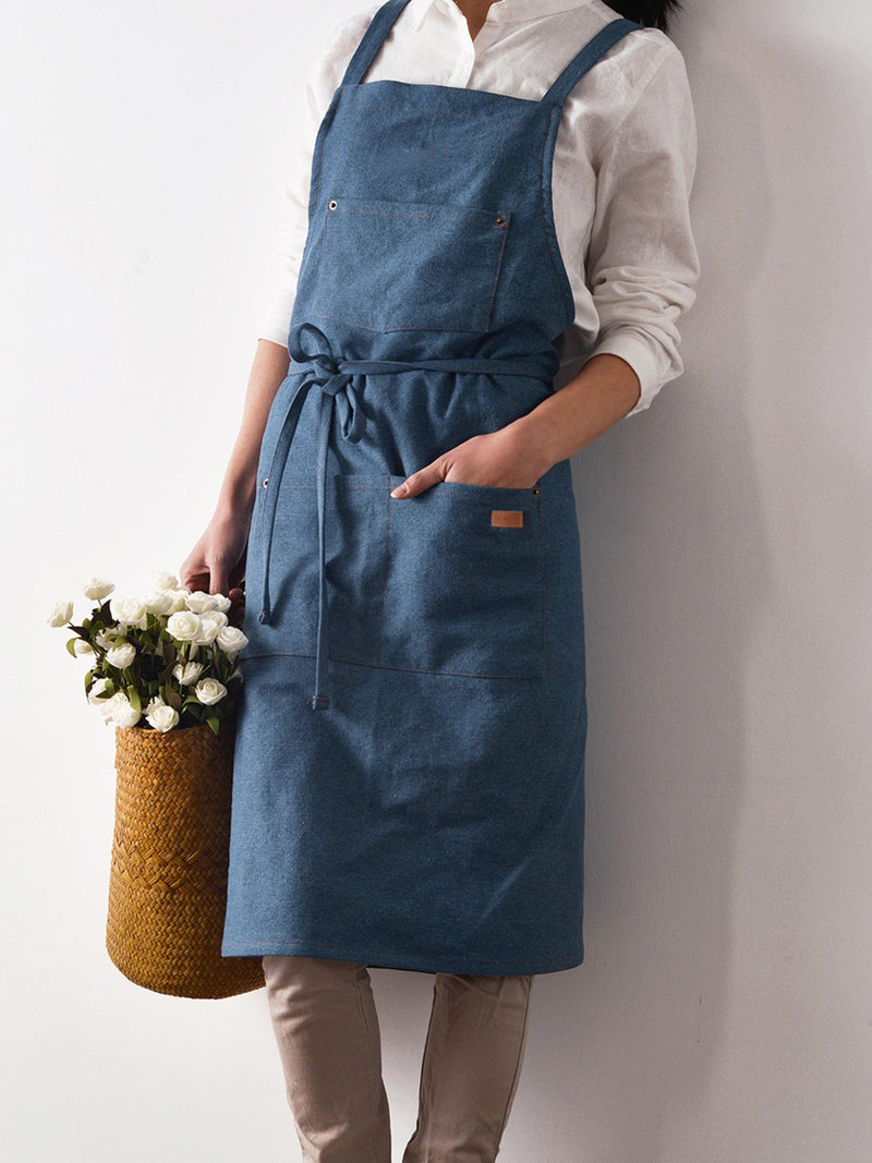 Spaghetti Sleeveless Solid Pockets Dress