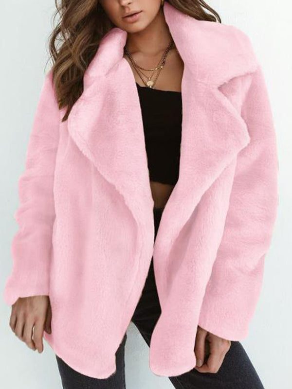 Sexy Lapel Long sleeved Coat