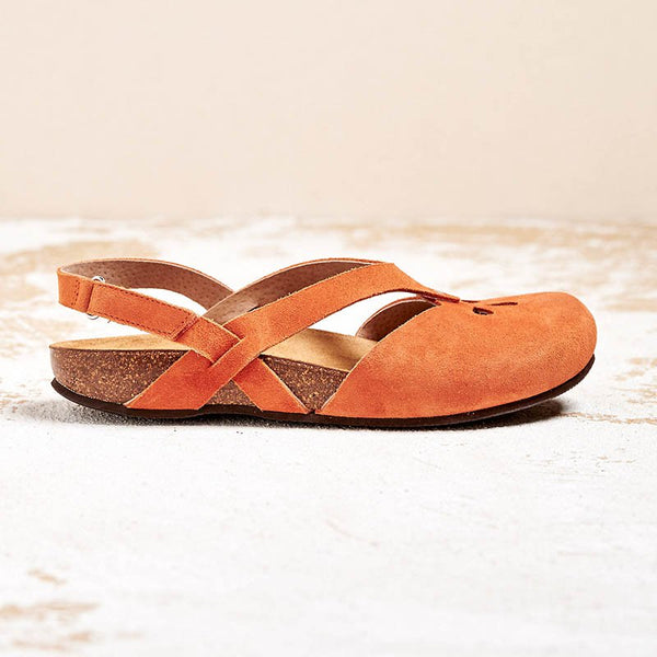 Women Comfy Magic Tape Flat Sandals