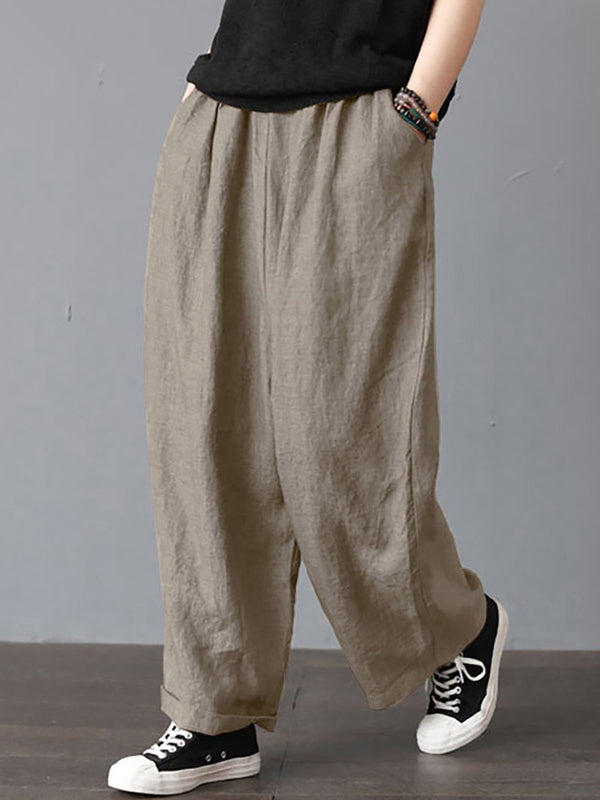 Women Daily Long Pants All Season Loose Cozy Bottoms