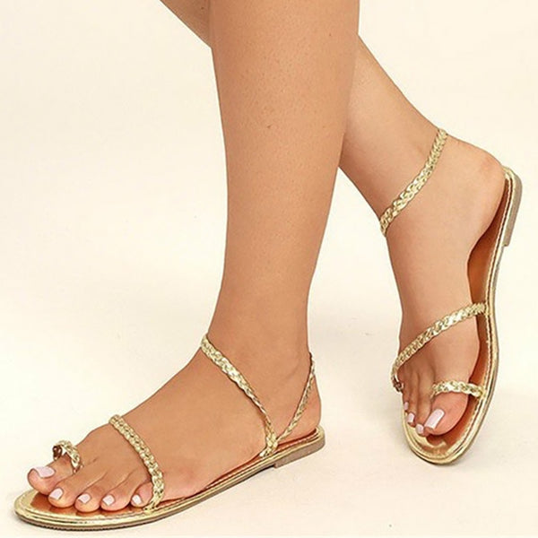 Pu Flat Heel Summer Shoes