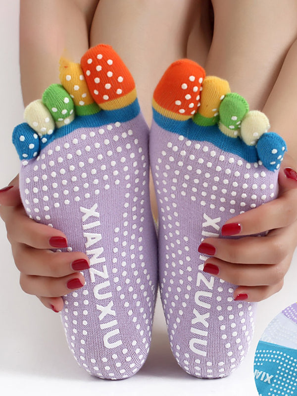 Womens Multi-color Fingers Cotton Socks