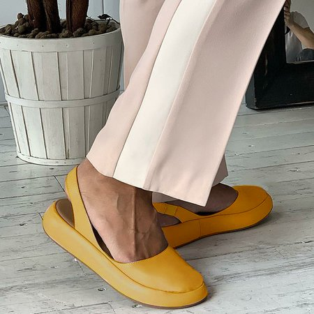 Round Toe Slide Pu Flat Heel Sandals