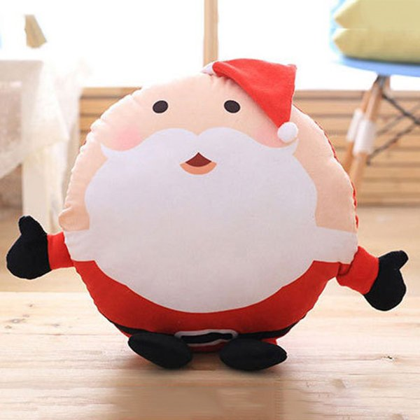 Winter Santa Claus Warm Pillow with Blanket Warm Hands Pillow Cushion for Christmas Gifts