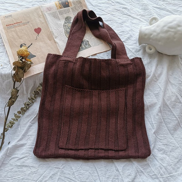 One-shoulder Women's Knit Bags