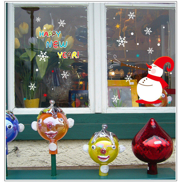 Christmas Glass Decorative Wall Stickers Can Remove Stickers Christmas Decors