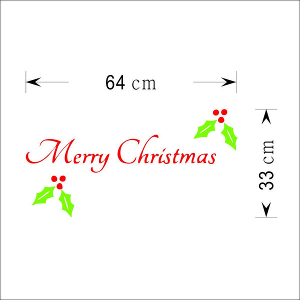 Colorful Merry Christmas Words PVC Xmas Removable DIY Wall Sticker home Decor