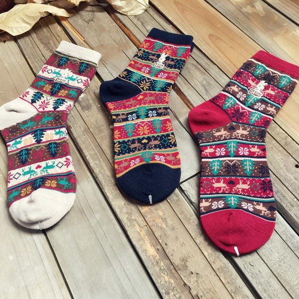 Unisex Breathable Geometric Cotton Socks
