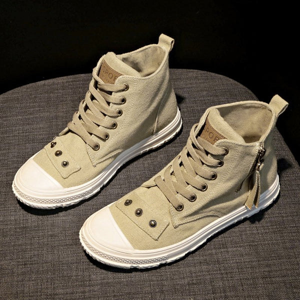 Womens Sneakes Flat Heel All Season Lace-Up Sneakers