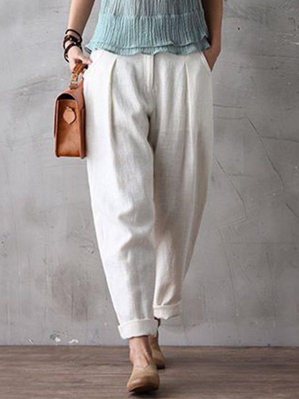 Women Long Cotton Pencil Pants