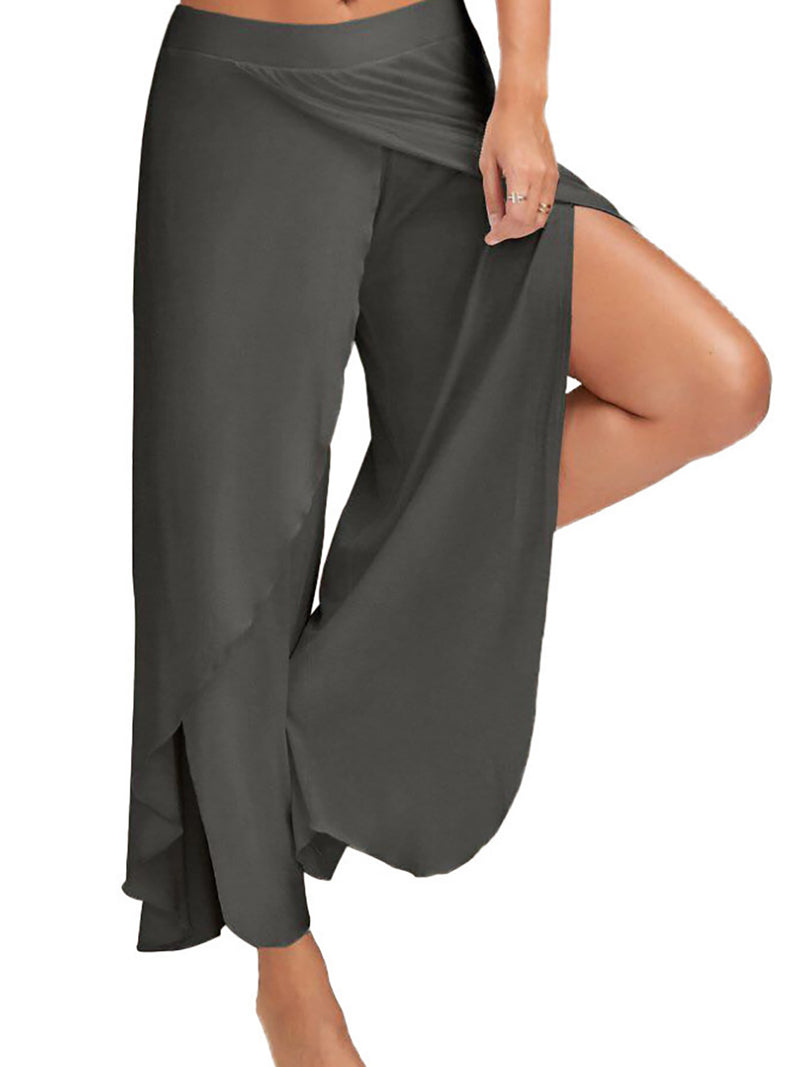 Outdoor Asymmetric Solid Pants