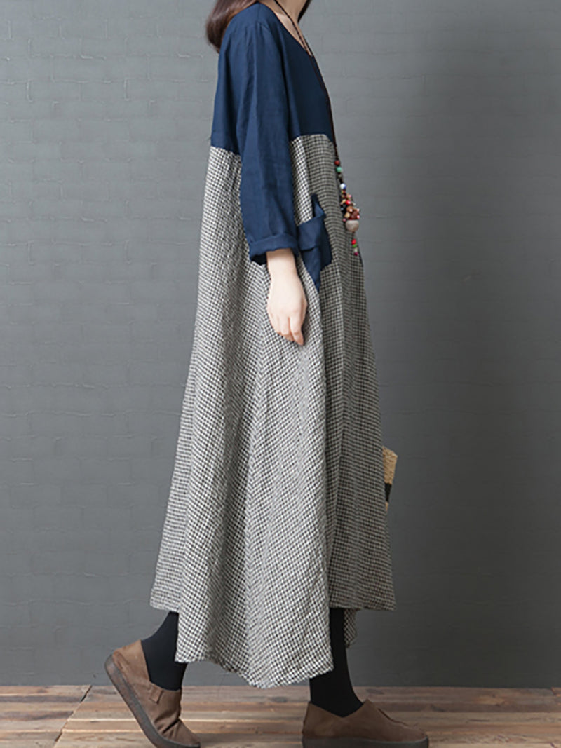 Basic Fashion Comfortable Long Sleeve Maxi Dress