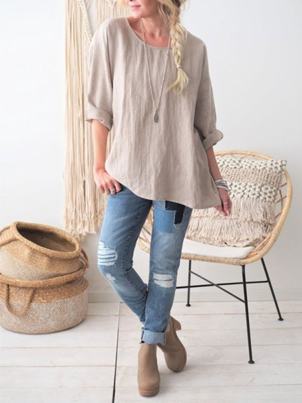 Daily Casual Long Sleeve Blouse
