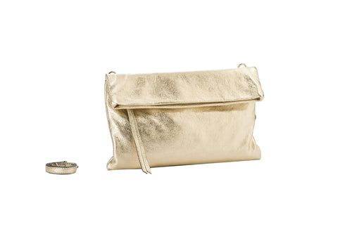 Gianni Chiarini Clutch Metallic Gold