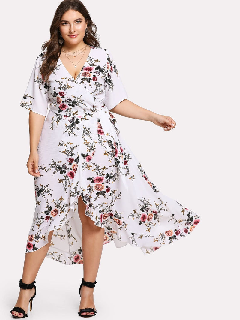 How To Wear Sexy Floral Summer Plus Size Dresses