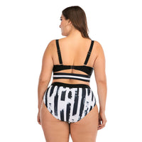 Stripe Sexy Bikini Beach Swimsuit - Voluptuous Inc