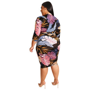 Autumn Bodycon Dress Plus Size - Voluptuous Inc