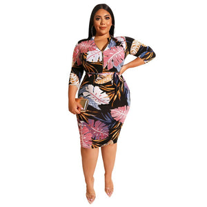 Autumn Bodycon Dress - Voluptuous Inc