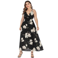 Floral Boho Maxi Long Dress - Voluptuous Inc