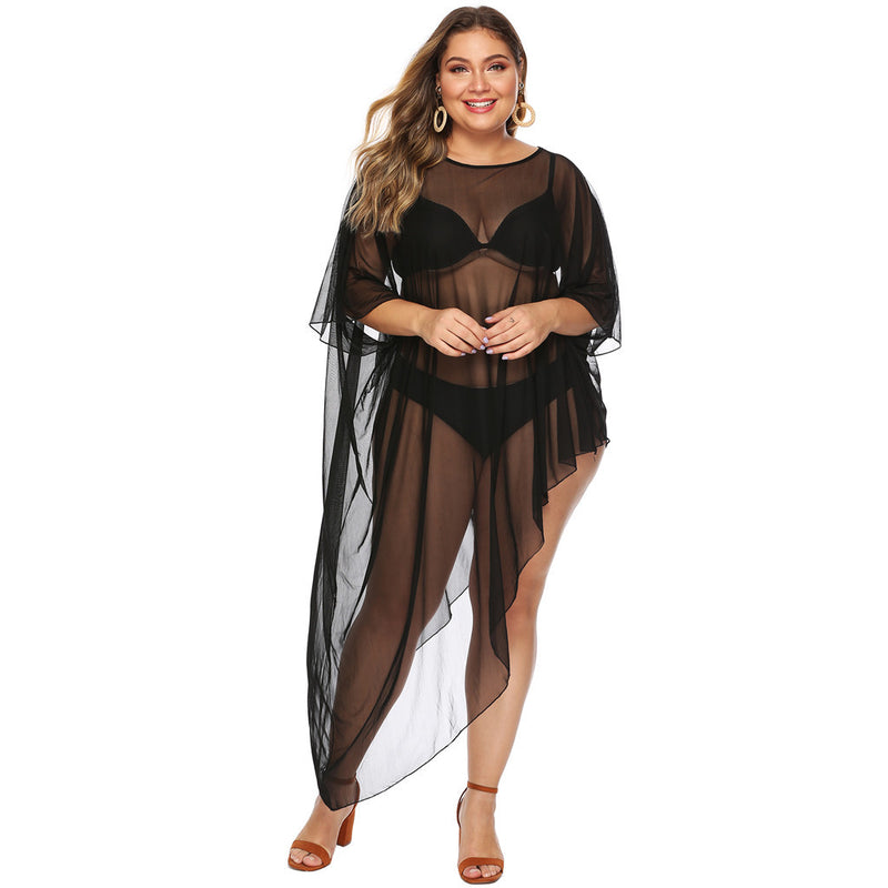 Chiffon Slanted Bikini Cover Up - Voluptuous Inc