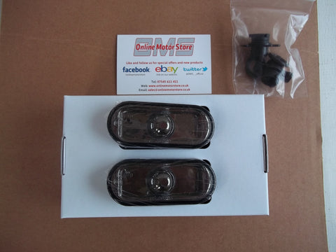 Transporter T5 + CADDY - side repeater / indicator lens SMOKED TINTED