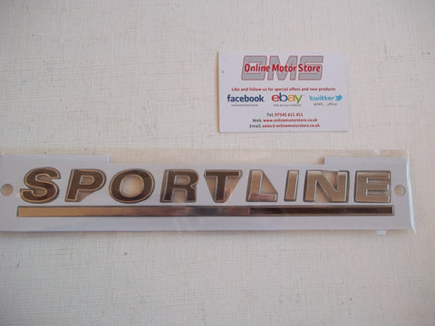 Volkswagen SPORTLINE chrome badge - BRAND NEW - TOP QUALITY - With template - Red or Black available