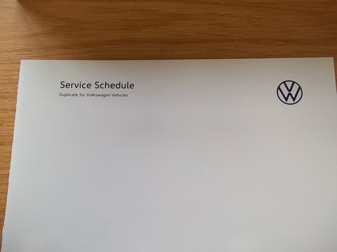 VOLKSWAGEN SERVICE BOOK / MAINTENANCE RECORD - DUPLICATE BOOK
