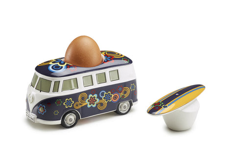 VW T1 SPLIT SCREEN + BEETLE - EGG CUP + SALT SHAKER - GENUINE VW ACCESSORY - PERFECT GIFT!
