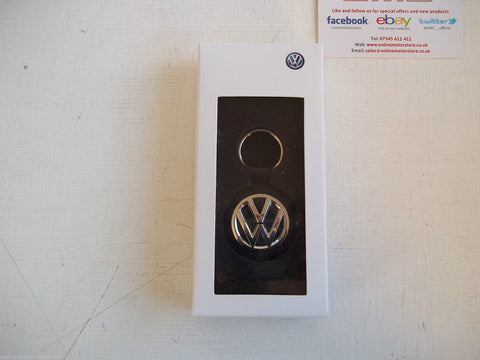 Volkswagen luxury key ring - LEATHER - BRAND NEW - GENUINE VW ACCESSORY - WITH PRESENTATION BOX