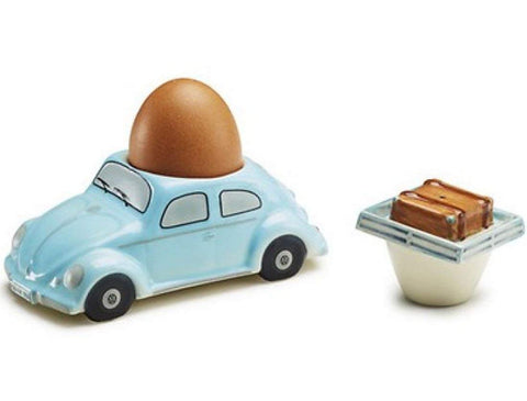 VW BEETLE - EGG CUP + SALT SHAKER - GENUINE VW ACCESSORY - PERFECT GIFT!