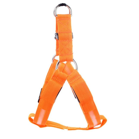 Nylon Dog harness with LED Flashing Light