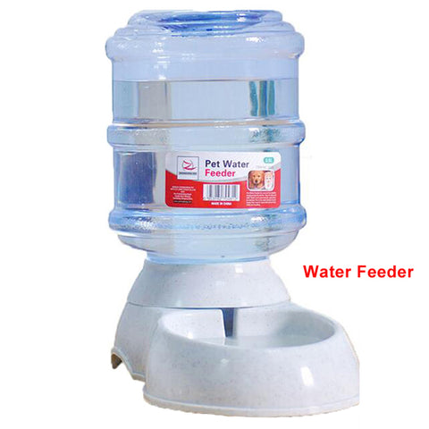 automatic feeder and drinking bowls