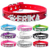 Bling Personalized Pet Dog Collar Rhinestone Customized