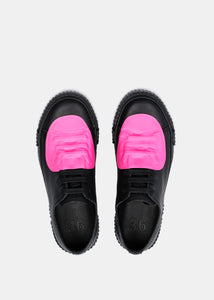 Black & Pink Rubber Patch Sneakers
