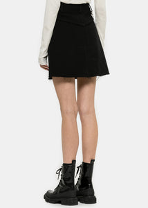 Black Short Denim Skirt