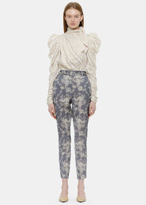 Grey Fleeting Stovepipe Pants