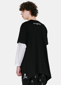 Black Boxy Cape T-Shirt