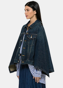 Blue Denim Cape